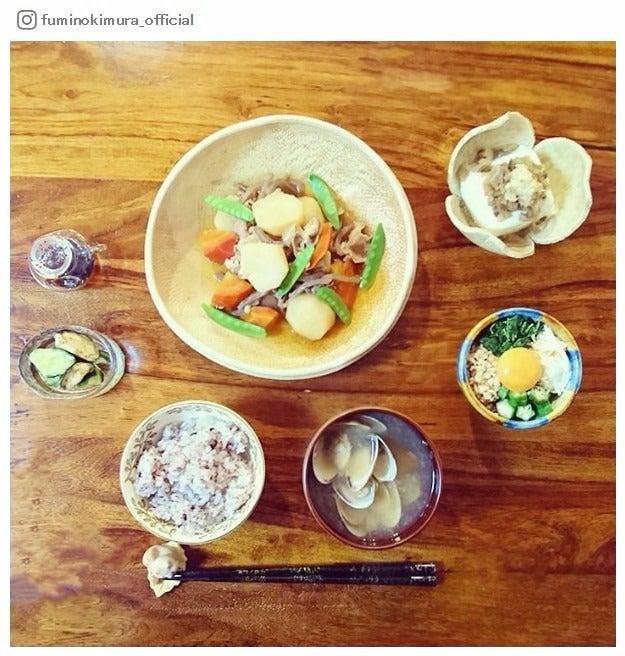"""木村文乃の手料理""""ふみ飯""""/木村文乃Instagramより"""