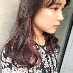 紫のインナーカラーでさりげなくお洒落に!人気色を自分らしく取り入れよう
