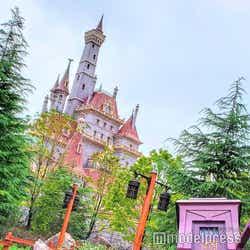 「美女と野獣の城」と馬車(C)モデルプレス(C)Disney