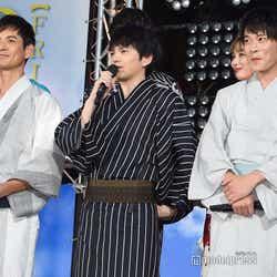 (左から)沢村一樹、林遣都、田中圭(C)モデルプレス
