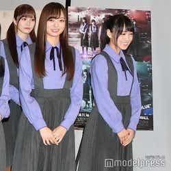 楽しそうに談笑しながら登場した/加藤史帆、梅澤美波、菅井友香 (C)モデルプレス