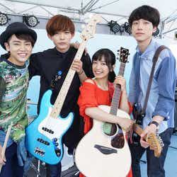 (左から)泉澤祐希、竜星涼、miwa、坂口健太郎(C)「君と100回目の恋」製作委員会