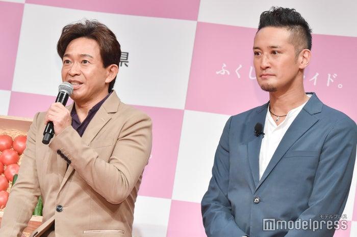(左から)城島茂、松岡昌宏(C)モデルプレス