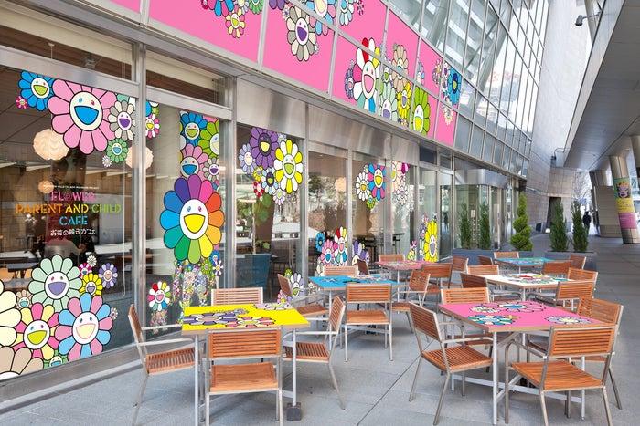 お花の親子カフェ(C)2021 Takashi Murakami/Kaikai Kiki Co.,Ltd.All Rights Reserved.