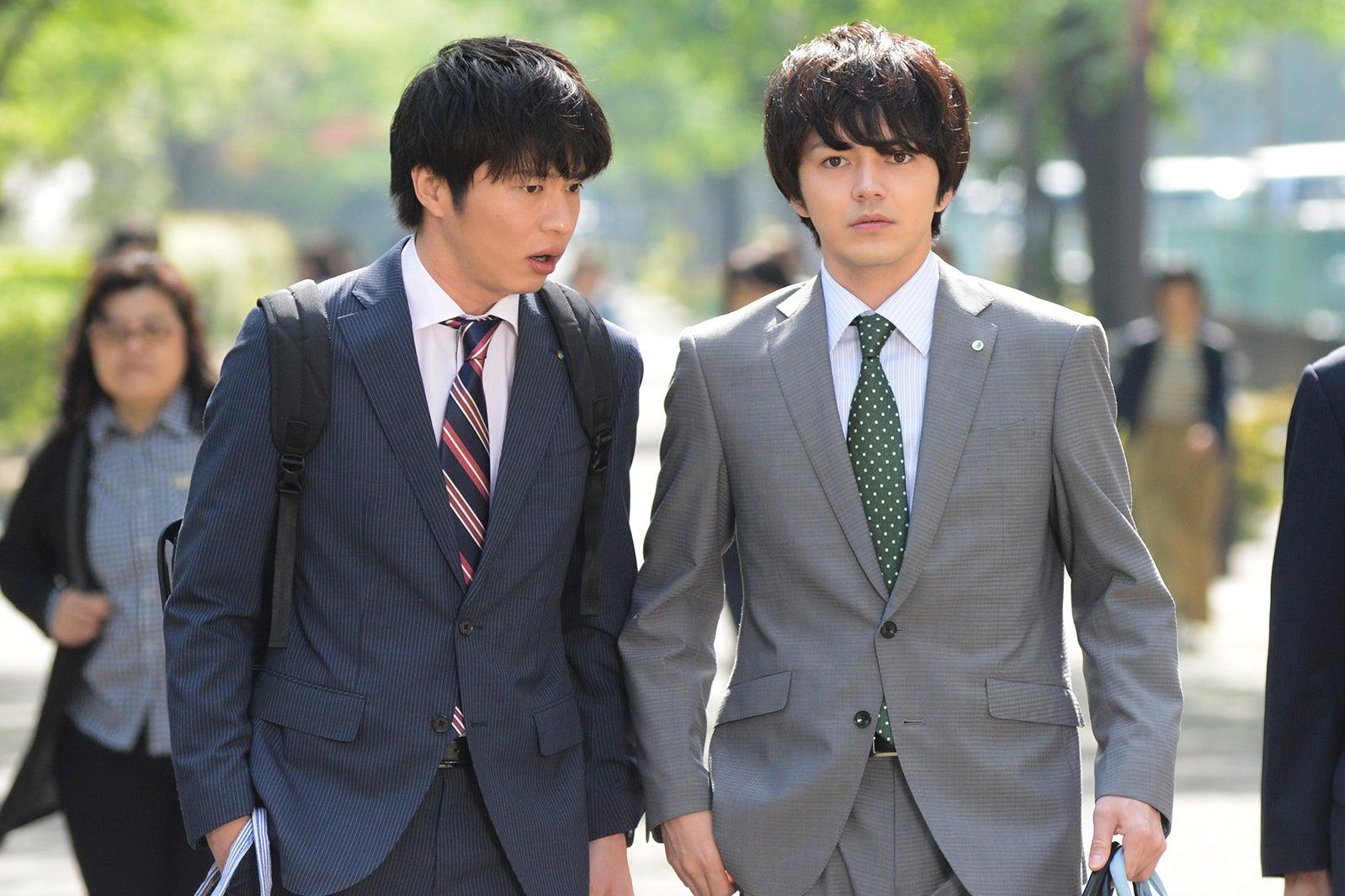 田中圭、林遣都/「おっさんずラブ」第5話より