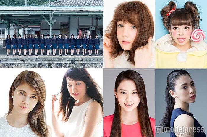 「GirlsAward 2016 SPRING/SUMMER」に出演する(上段左から)乃木坂46、トリンドル玲奈、藤田ニコル(下段左から)マギー、筧美和子、河北麻友子、三吉彩花