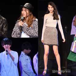 左上:山崎大雅&蘭、左下White☆Crown 、右:黒木麗奈&伊藤桃々 (C)モデルプレス