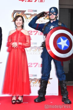 百田夏菜子、キャプテン・アメリカ(C)モデルプレス