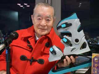 ドクター中松氏が怪気炎 「箱根駅伝の記録が伸びたのは私のフライングシューズ理論」 発明家のドクター中松氏が記者会見。箱根駅伝で注目を集めたナイキの厚底シューズに言及した。