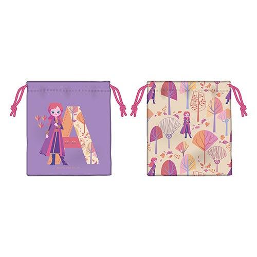 巾着2種(アナ) 各850円(C)Disney