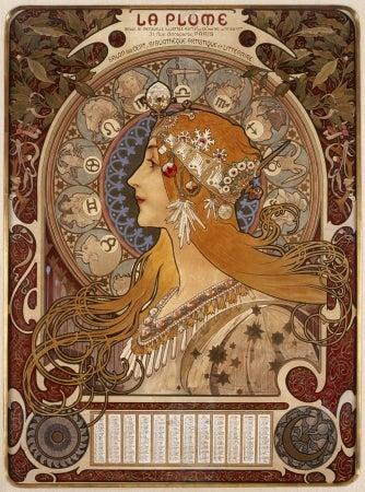 黄道十二宮 ラ・プリュム誌のカレンダー 1896年/画像提供:ハウステンボス