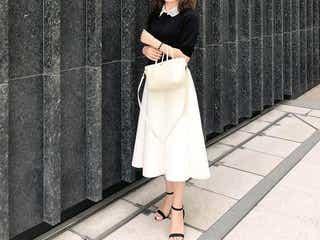 白ボトムで毎日のオフィスコーデがきれい見え! ホワイトスカート&パンツでつくる、爽やかなお仕事服10選♪