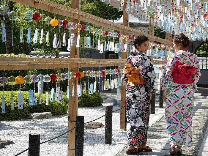 夏には女性に人気のある行事、風鈴まつりも開催/画像提供:宝徳寺