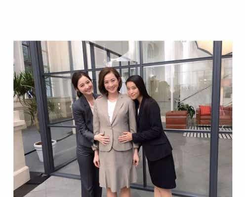 妊娠中の高垣麗子、佐々木希&武井咲と3ショット ふっくらお腹でハッピーオーラ全開