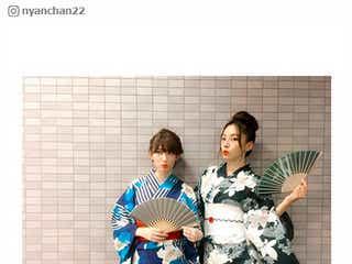 小嶋陽菜、浴衣で花火満喫 インスタアイドルMEGBABYらとの美麗ショットに反響「べっぴん」「目の保養」