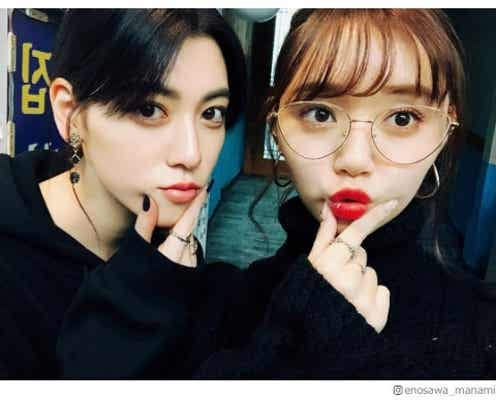 三吉彩花&江野沢愛美、韓国女子旅ショットに「みよまな最高!」「おそろコーデ可愛い」の声