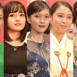 (左から)深川麻衣、橋本環奈、本田翼、広瀬アリス、松岡茉優/東京国際映画祭(C)モデルプレス