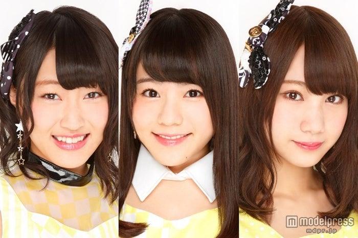 今月休業・卒業を発表したNMB48の上枝恵美加、河野早紀、高野祐衣(c)AKS【モデルプレス】