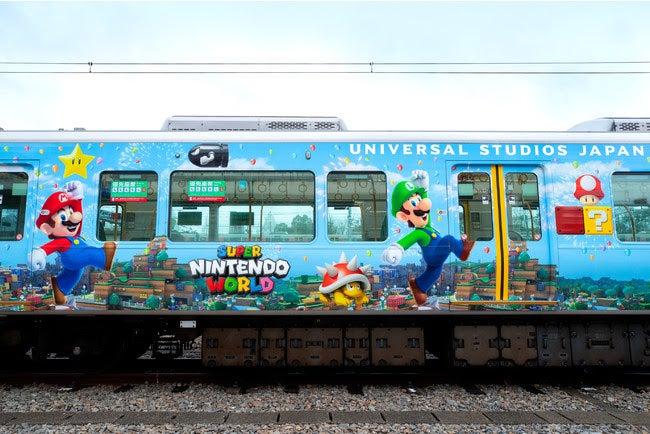 「スーパー・ニンテンドー・ワールド」ラッピング列車 (C)Nintendo