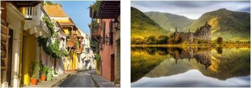 コロンビア、スコットランド/画像提供:AAE Japan