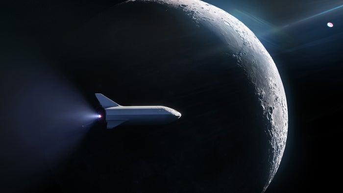 「BFR」による月周回イメージ(提供画像)
