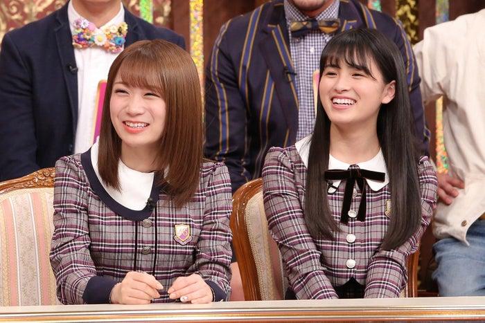 (左から)秋元真夏、大園桃子(画像提供:中京テレビ)