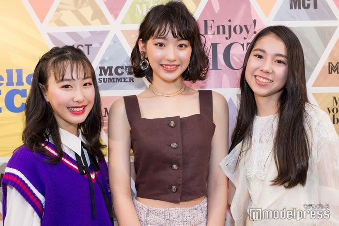 (左から)「Popteen」賞・山下森羅さん、「CanCam」賞・村上なずなさん、「sweet」賞・池田メリッサさん(C)モデルプレス