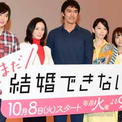 (左から)塚本高史、吉田羊、阿部寛、稲森いずみ、深川麻衣(C)モデルプレス