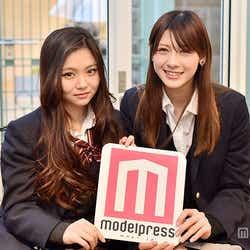 「関東女子高校生ミスコン2014」グランプリの山本結巳さん(右)、「関西女子高校生ミスコン2014」グランプリの桜井美悠さん(左)