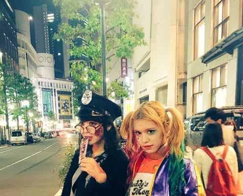 """藤田ニコル、紗蘭とハロウィン仮装で""""4年連続""""渋谷に出没 「全然分からなかった」の声続出"""