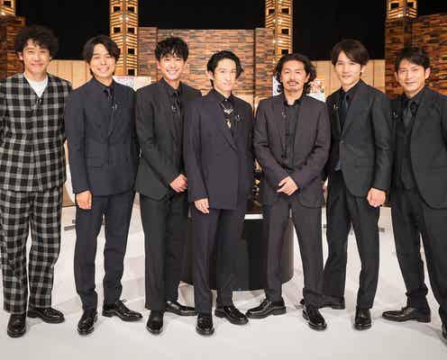 V6、最後の「SONGS」出演で大泉洋と初対談 レア映像放出にメンバー赤面