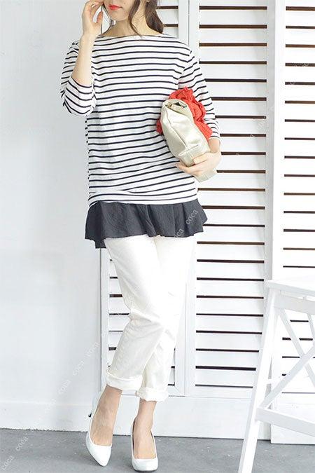 ゆったり履けるボーイフレンドデニムダメージ加工cocaオリジナル「coca」3,990円(税込)
