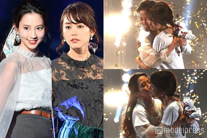 桐谷美玲&河北麻友子、キス・ハグからの振り幅がすごい!レディな着こなしに「可愛い」の嵐 (C)モデルプレス