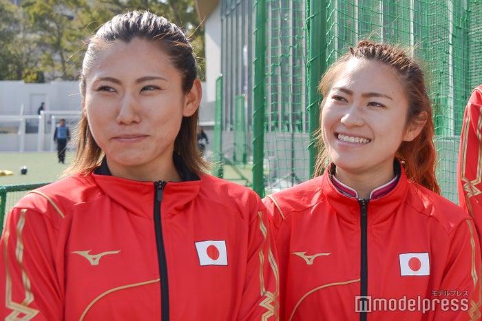 (左から)永井友理選手、永井葉月選手(C)モデルプレス