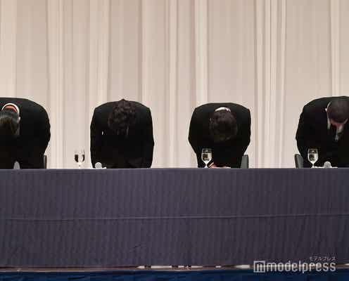 TOKIO城島茂、号泣「山口の責任は全員の責任」5人で話し合う<TOKIO会見場から速報>