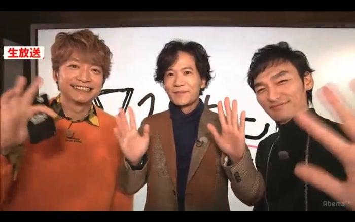香取慎吾、稲垣吾郎、草なぎ剛(C)AbemaTV