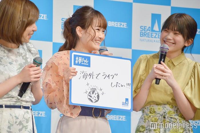 (左から)MAYU、芹奈、manaka (C)モデルプレス