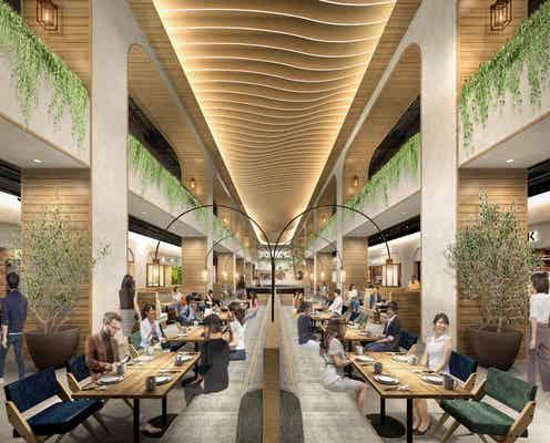 岡山・瀬戸内の食が集まる大型フードホール、2022年夏オープン