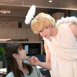 モデルプレス - 眞栄田郷敦、天使姿で若月佑美にキス?<私の部下のハルトくん>