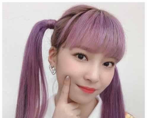 NiziUマユカ、紫ヘアのツインテール姿にファン歓喜「天使過ぎ」「無敵」
