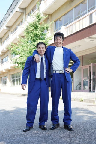 「今日から俺は!!」太賀&矢本悠馬、ビジュアル公開 気合の髪型で完全再現