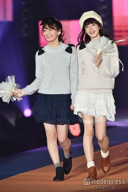 佐藤美希(左)、岡田紗佳