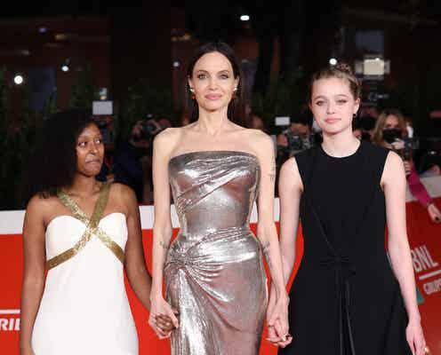 アンジェリーナ・ジョリー、ザハラ&シャイロとローマ国際映画祭に来場。