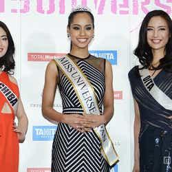 2015 ミス・ユニバース日本大会/(左から)土屋ひかるさん、宮本エリアナさん、猪子里奈さん