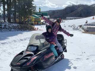 椎名ひかり、スノボに初挑戦 鈴木聖と複合型スキー場「タカスダイナ」の魅力に迫る