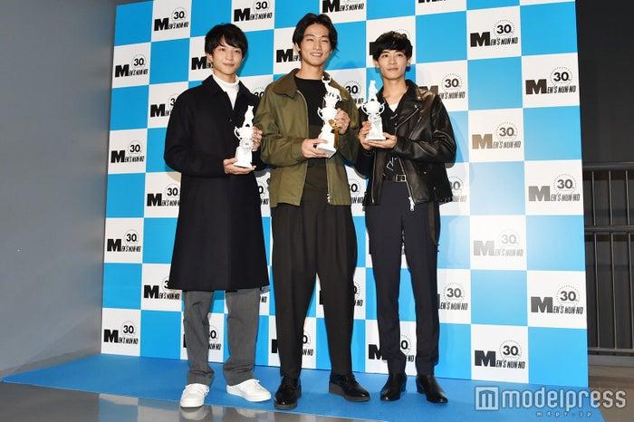 鈴木仁さん、中川大輔さん、若林拓也さん(C)モデルプレス