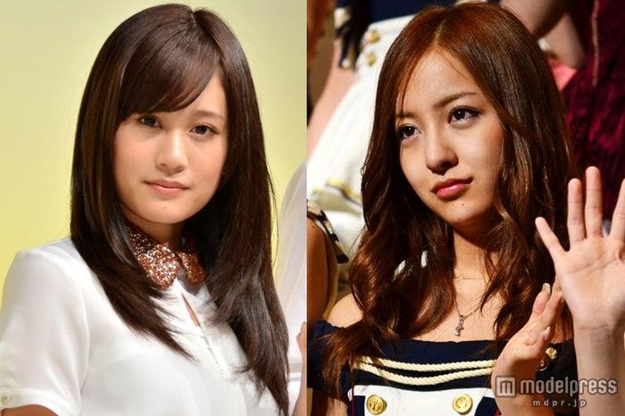 前田敦子(左)とのエピソードを語った板野友美(右)