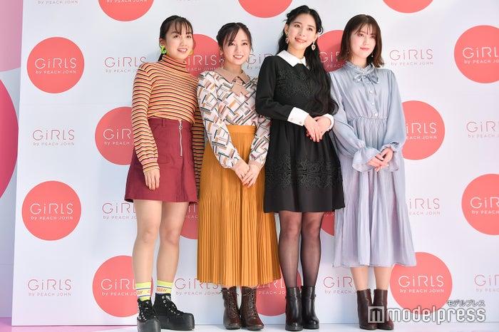 (左から)黒木ひかり、今泉佑唯、ミチ、ちゃんえな(C)モデルプレス