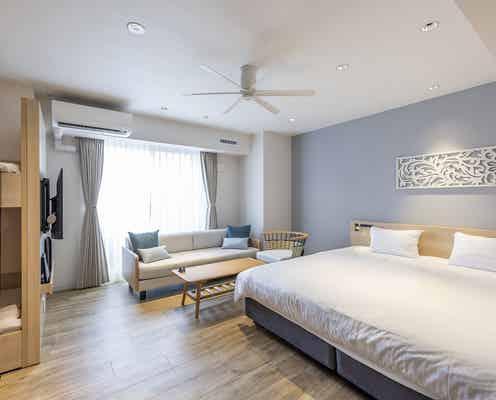 沖縄・那覇に新ホテル「ALPHABED INN 那覇国際通りWEST」最大7名1室で宿泊可