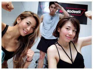 仲里依紗&中尾明慶、夫婦でトレーニング「キツネ強化計画」美ボディショットに反響